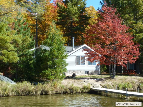 Cabin wrapped in great fall colors!